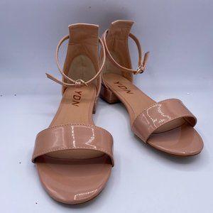 YDN Chic Block Low Heel Sandals Open Toe